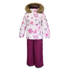 Комплект куртка/полукомбинезон Huppa Wonder, цвет: белый/бордовый