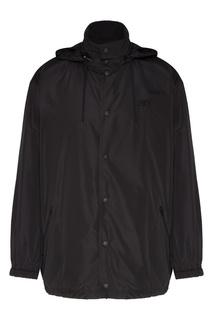Черная ветровка с капюшоном Balenciaga Man