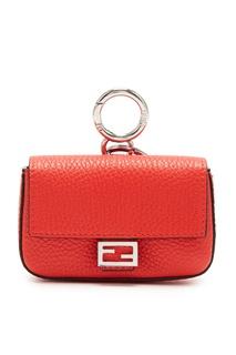 Красная мини-сумка из кожи Fendi