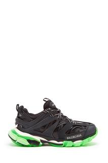 Черные кроссовки Track с зеленой подошвой Balenciaga