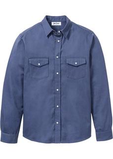 Рубашки с длинным рукавом Рубашка джинсовая Bonprix