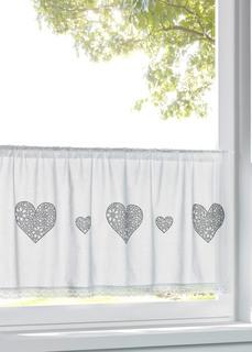 Короткие шторы Штора с принтом в виде сердечек Bonprix
