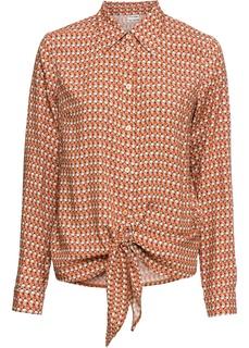 Блузки с длинным рукавом Блузка дизайна в узел Bonprix