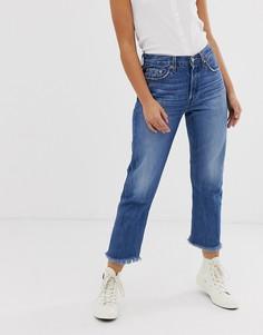 Укороченные джинсы с необработанными краями Levis 501 - Синий