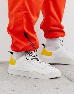 Белые низкие кроссовки с отделкой на подошве Diesel S-Clever - Белый