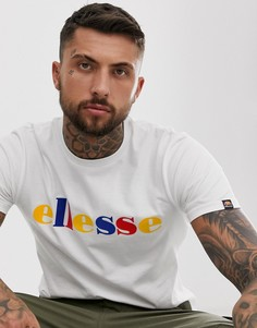Белая футболка с разноцветным логотипом ellesse Reno - Белый
