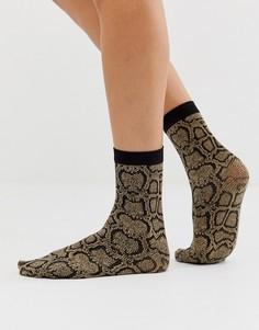 Носки до щиколотки с рисунком под змеиную кожу Gipsy - Черный