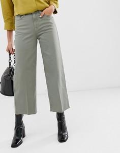 Широкие укороченные джинсы Selected Femme - Зеленый