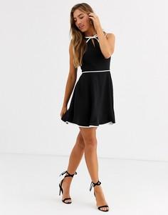 Короткое приталенное платье с бантиком Ted Baker Dralie - Черный