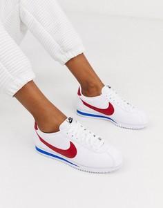 Кожаные кроссовки в стиле ретро Nike Classic Cortez - Белый