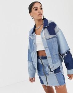 Джинсовая куртка в стиле пэтчворк Signature 8 - Синий