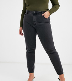 Укороченные джинсы в винтажном стиле с завышенной талией Vero Moda Curve - Черный