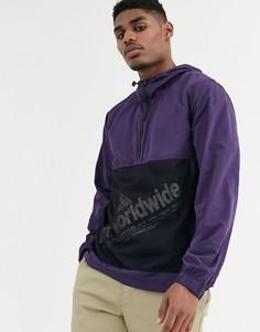 Фиолетовый анорак HUF - Wire Frame 2.0 - Фиолетовый