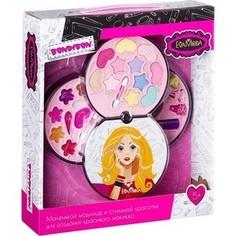 Набор детской декоративной косметики Bondibon Eva Moda Косметичка-диск 3х-уровневая (ВВ2256)