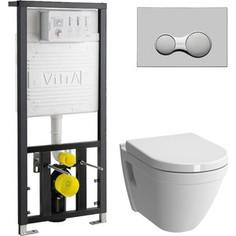 Комплект Vitra S50 Rim-Ex с инсталляцией, безободковый, с микролифтом (7740B003-0075, 700-1873, 72-003-309)