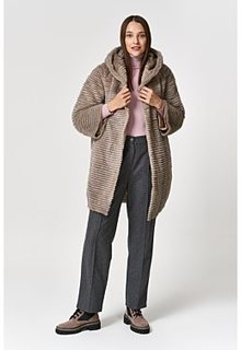 Двухсторонняя комбинированная шуба из меха норки Virtuale Fur Collection