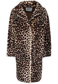 Шуба из овчины леопардовой расцветки Virtuale Fur Collection