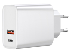 Зарядное устройство Baseus Speed PPS Quick Charger 30W / Type-C / USB EU White CCFS-C02