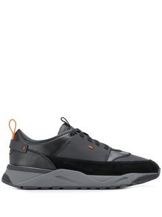 Santoni кроссовки с контрастными вставками