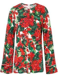 Dolce & Gabbana блузка с принтом Portofino