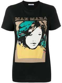 Max Mara футболка с графичным принтом