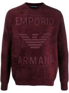 Emporio Armani eagle logo jumper