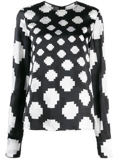 Marni блузка с графичным принтом