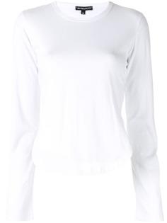 Ann Demeulemeester топ с длинными рукавами и боковыми разрезами