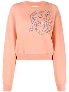 Off-White embroidered woman figure sweatshirt