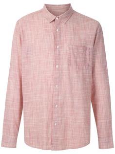 Osklen клетчатая рубашка с нагрудным карманом