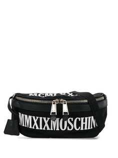 Moschino поясная сумка с вышитым логотипом