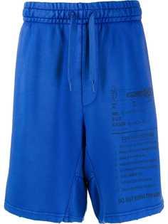 Moschino спортивные шорты с принтом