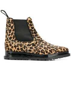 Sacai ботинки-челси с леопардовым принтом