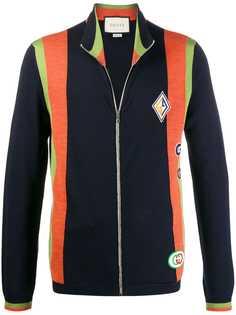 Gucci куртка-бомбер с нашивками