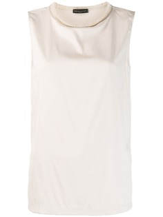Fabiana Filippi блузка с вязаным воротником
