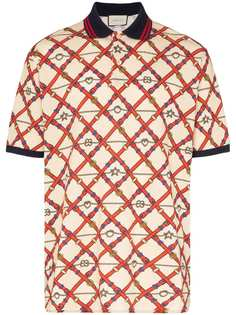 Gucci рубашка-поло с логотипом