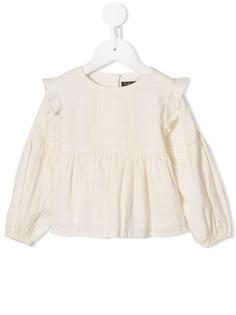 Velveteen блузка Marie со складками