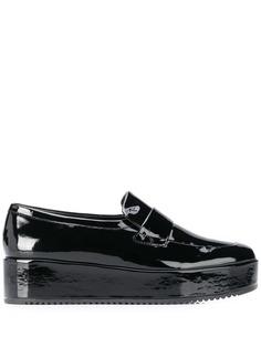 Hogl platform slip-on loafers