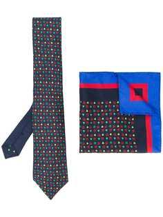 Etro комплект с нагрудным платком и галстуком