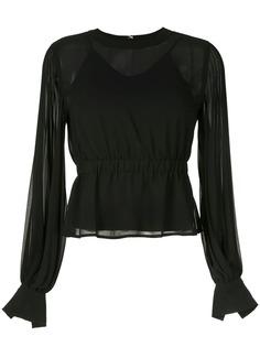Ck Calvin Klein плиссированная блузка с длинными рукавами