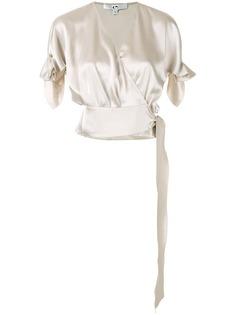 Comme Moi укороченная блузка с запахом