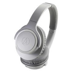 Наушники AUDIO-TECHNICA ATH-SR30BTGY, Bluetooth, накладные, белый матовый [80000226]