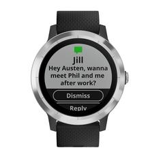 Спортивные часы Garmin Vivoactive 3 Silicone Steel/Black