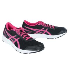Кроссовки Asics, цвет: розовый/черный