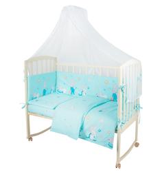 Комплект постельного белья Leader Kids Сонный зайка 7 редметов, цвет: бирюзовый