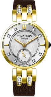 Женские часы в коллекции Floroje Женские часы Romanson RL9A10QLG(WH)