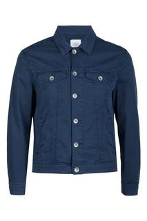 Синяя хлопковая куртка Eleventy