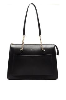 Черная сумка с цепочками Dkny