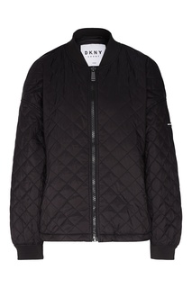 Черная стеганая куртка Dkny