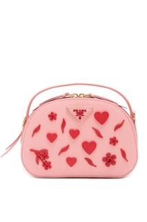 Розовая сумка Odetta с отделкой Prada